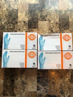 SupplyMaster Blue Nitrile Exam Disposable Gloves