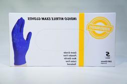 SupplyMaster SMINE4S Exam Nitrile Gloves Disposable Powder F