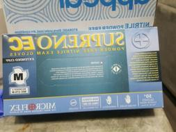 MICROFLEX SUPRENOEC POWDER/LATEX FREE EXTENDED CUFF 50 GLOVE