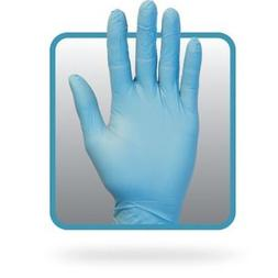 The Safety Zone ® Powder Free Blue Nitrile Gloves