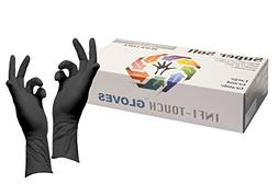 Infi-Touch 8mil Thickness, Disposable Gloves, Black Latex 12