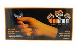 Eppco Tiger Grip Nitrile Gloves, X-Large, Orange