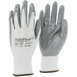 Tucker Safety FlexTech? White Knit Work Gloves with Grey Nit