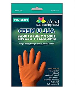 All U NEED Specialty Cleaning Gloves | 6 Gloves | 3 Reusable