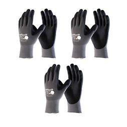 Maxiflex 34-874 Ultimate Nitrile Grip Work Gloves, Medium, 3