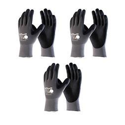 Maxiflex 34-874 Ultimate Nitrile Grip Work Gloves, Medium, 3