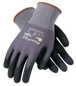 ultimate nitrile micro foam coated gloves large