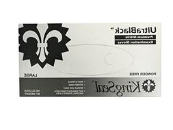 KingSeal UltraBlack Black Nitrile Medical Grade Gloves, Late