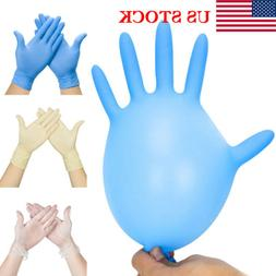 US Lot 100pcs Nitrile Disposable Gloves Powder Free Non-Late