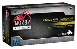 Venom VEN8122  Steel Industrial Latex Gloves, 8 mil, Medium