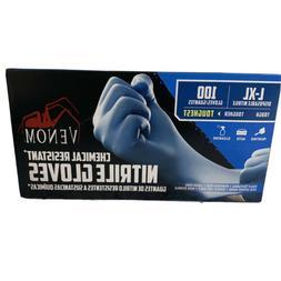 Medium BLACK Nitrile Powder-Free Gloves - Box of 100.-- Free