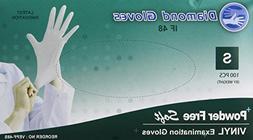 Diamond Gloves VEPF-48M Medium Vinyl Exam Powder- Free Glove