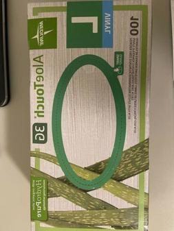 Medline Vinyl Exam Disposable Gloves AloeTouch 3G Size Large