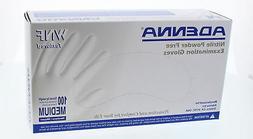 Adenna WNF White Nitrile PF Exam Gloves WNF815 Medium