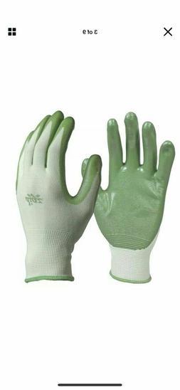 Digz Women's Garden Nitrile Coated Gloves Medium/Large 3-Pai