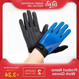 Work <font><b>Gloves</b></font> Full Finger Touch Screen Bre