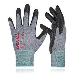 DEX FIT Nitrile Work Gloves FN330, 3D Comfort Stretch Fit, D
