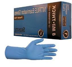 """SKINTX  10 mil 12"""" Nitrile Exam Powder-Free 50pc per box ET5"""