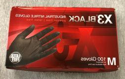 X3 Black Industrial Nitrile Gloves Powder Free Latex Free Si
