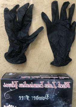Xlarge Black Latex Disposable Gloves  100 per Box Skintx Pow
